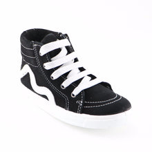 Black Leather Sneakers (SS-7129)
