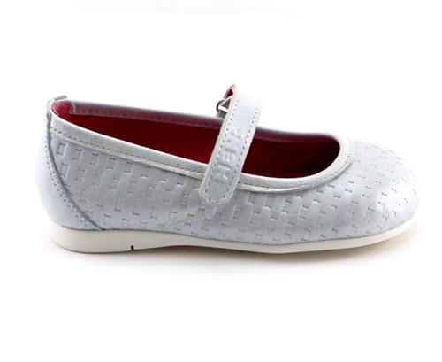 White Leather ballerina (SS-7138) - SIMPLY SHOES HONG KONG