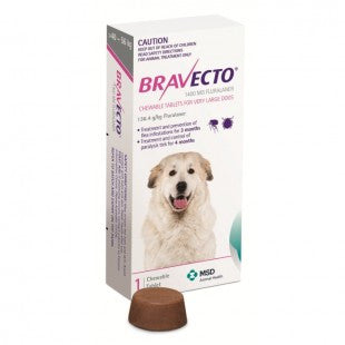 BRAVECTO FLEA AND TICK CHEW FOR EXTRA LARGE 40-56KG