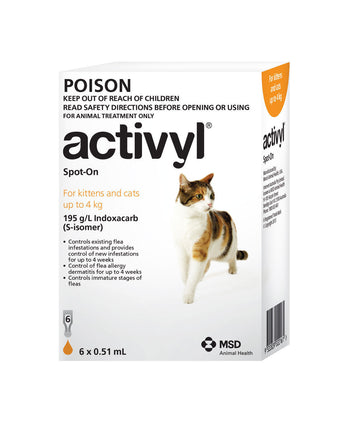 ACTIVYL CAT UNDER 4KG SIX PK