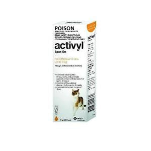 ACTIVYL CAT UNDER 4KG SINGLE DOSE ONE PK