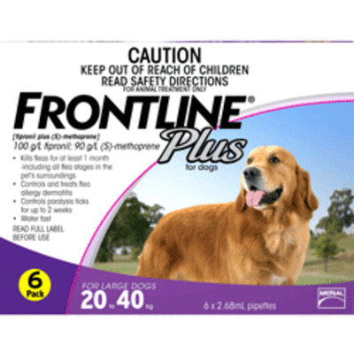 FRONTLINE PLUS PURPLE FOR LARGE DOGS 6PK