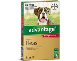 ADVANTAGE RED FOR DOGS 10-25kg (6PK)
