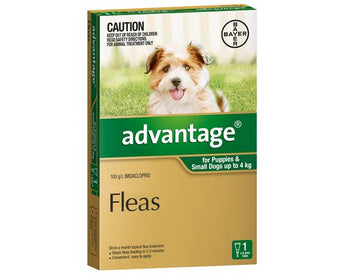 ADVANTAGE GREEN FOR SMALL DOGS AND PUPPIES UP TO 4KG (1PK)