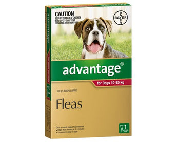 ADVANTAGE RED FOR DOGS 10-25kg (1PK)