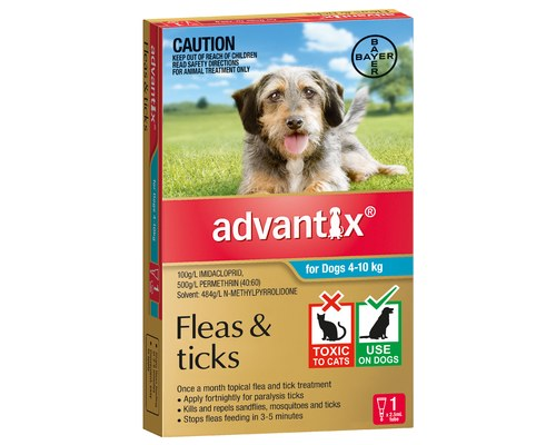 ADVANTIX AQUA FOR MEDIUM DOGS 4-10KG (1PK)