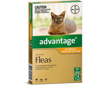 ADVANTAGE ORANGE FOR KITTENS AND SMALL CATS UP TO 4kg (4PK)