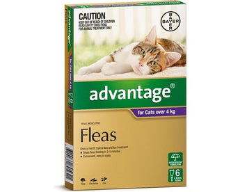 ADVANTAGE PURPLE FOR CATS OVER 4KG (6PK)