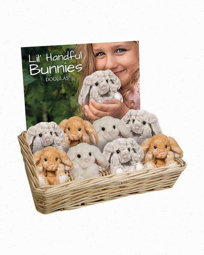 DOUGLAS- BUNNY LIL HANDFUL IN GREY, WHITE, OR CARAMEL