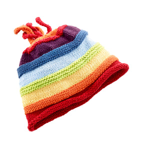 PEBBLE- RAINBOW STRIPEY HAT