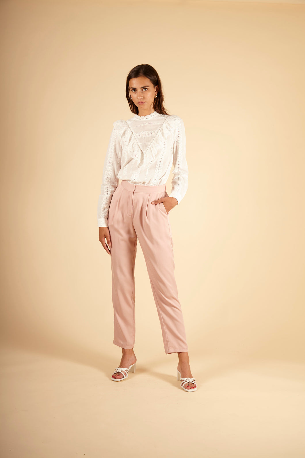 FRNCH PARIS- PALMIRA - WOMEN'S WOVEN PANTS