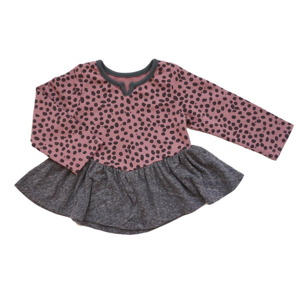 MIKI MIETTE- BABIES PINK JUNGLE PRINT TOP
