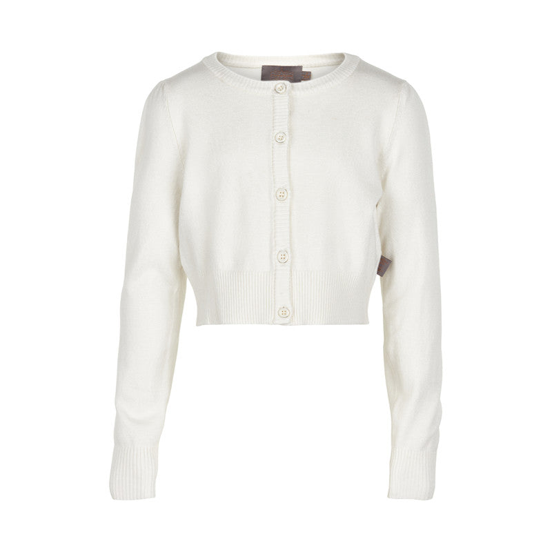 Girl's short white cardigan from Creamie brand - Eli and Ella Rose