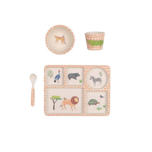LOVE MAE- DIVIDED PLATE SET - ON SAFARI