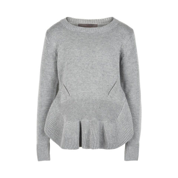 CREAMIE LIGHT GREY MELANGE SWEATER