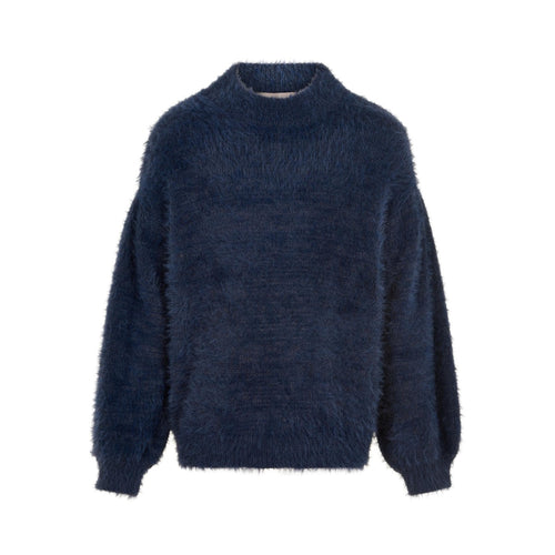 CREAMIE- NAVY KNIT SWEATER