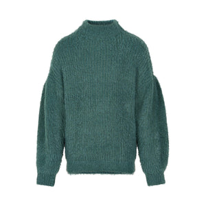 CREAMIE- EMERALD GREEN KNIT SWEATER