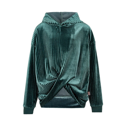 CREAMIE- EMERALD GREEN VELOUR PULL OVER