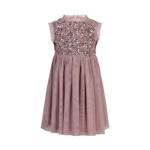 CREAMIE- TOTAL PINK ECLIPSE SEQUINS DRESS