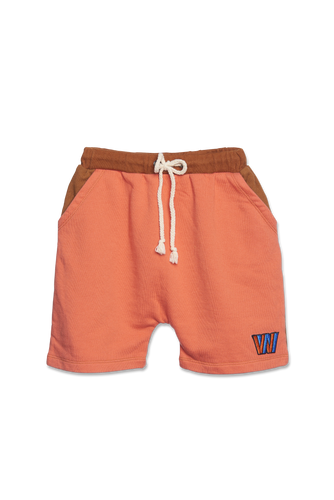 WANDER-N-WONDER - COLOR-BLOCK SHORTS IN COPPER