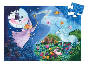 DJECO- SILHOUETTE FAIRY AND UNICORN 36 PC PUZZLE