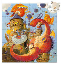 DJECO- SILHOUETTE VAILLANT AND DRAGON 54 PIECE PUZZLE