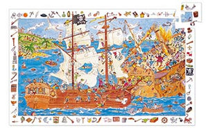 DJECO- OBSERVATION PIRATE 100 PC PUZZLE
