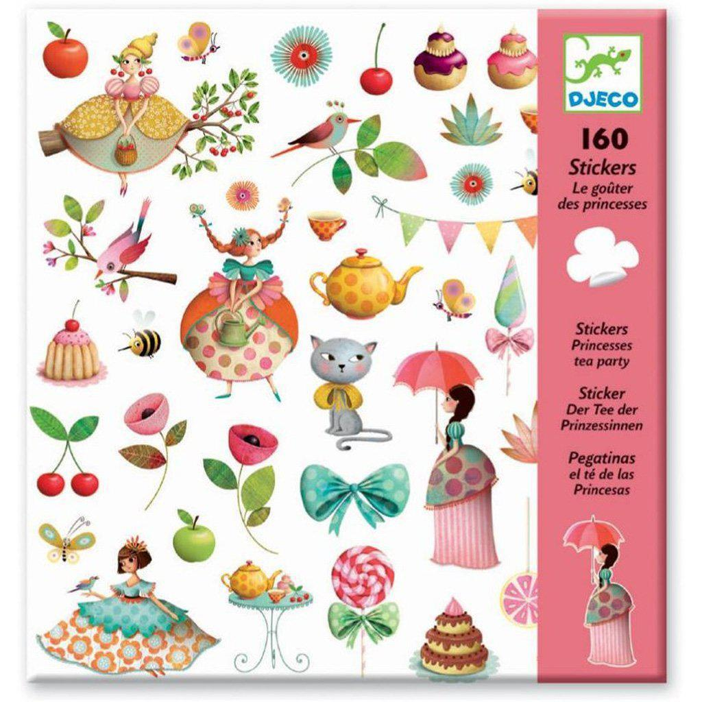 DJECO- STICKERS PRINCESS TEA PARTY