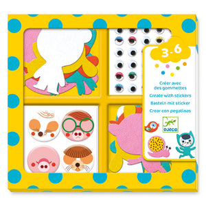 DJECO- I LOVE ANIMALS STICKER KIT