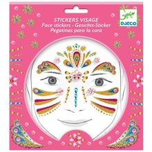 DJECO- GOLD PRINCESS FACE STICKERS