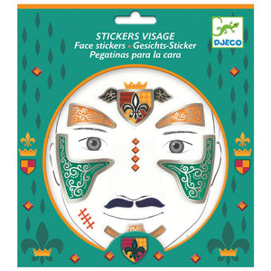 DJECO- KNIGHT FACE STICKERS