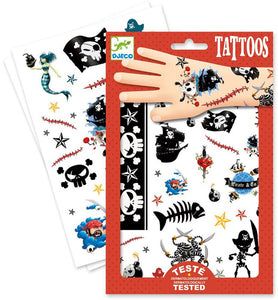 DJECO- TEMPORARY TATTOOS, PIRATES