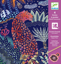 DJECO- LUSH NATURE SCRATCH CARDS