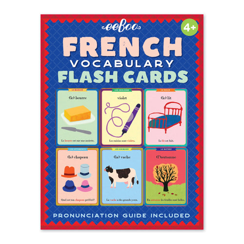 EEBOO - FRENCH VOCABULARY FLASH CARDS
