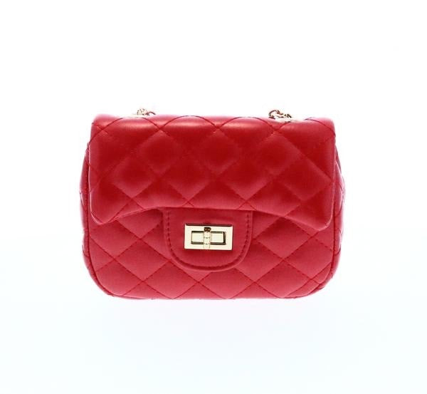 DOE A DEAR- QUILTED RED PURSE