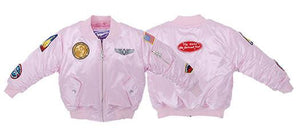 UP & AWAY- GIRLS MA-1 FLIGHT PINK BOMBER JACKET