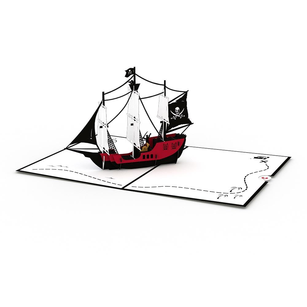 LOVEPOP- PIRATE SHIP 3D CARD