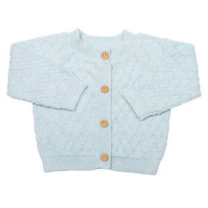 MIKI MIETTE- CLOUD BLUE CARDIGAN SWEATER
