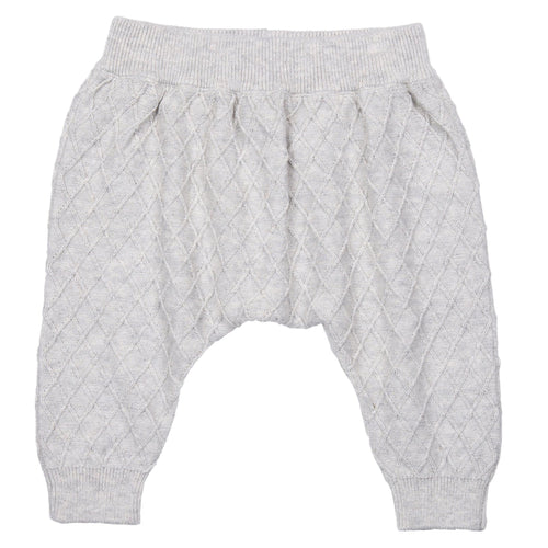 MIKI MIETTE- DOVE GRAY KNIT PANTS