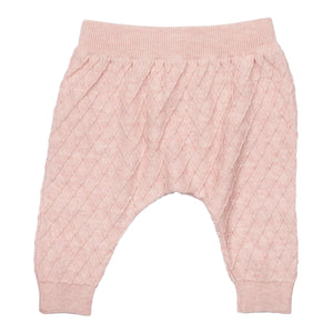 MIKI MIETTE- ROSE PINK KNIT PANTS