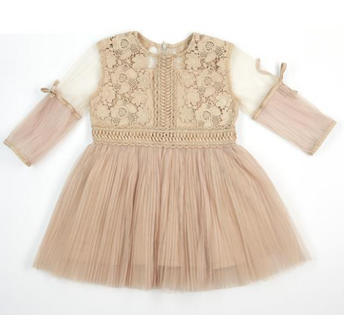 Pink cat tutu dress with silver details - Eli and Ella Rose