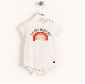 THE BONNIE MOB- CABO BODYSUIT PEACH RAINBOW