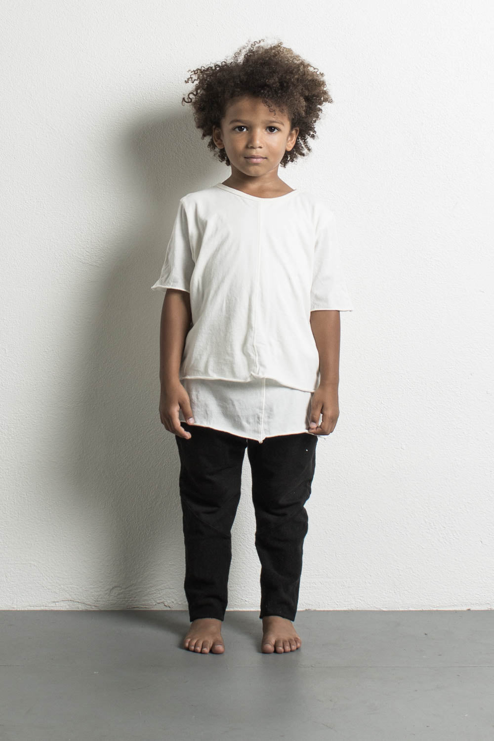 DANIEL PATRICK KIDS- LAYERED TEE IN NATURAL
