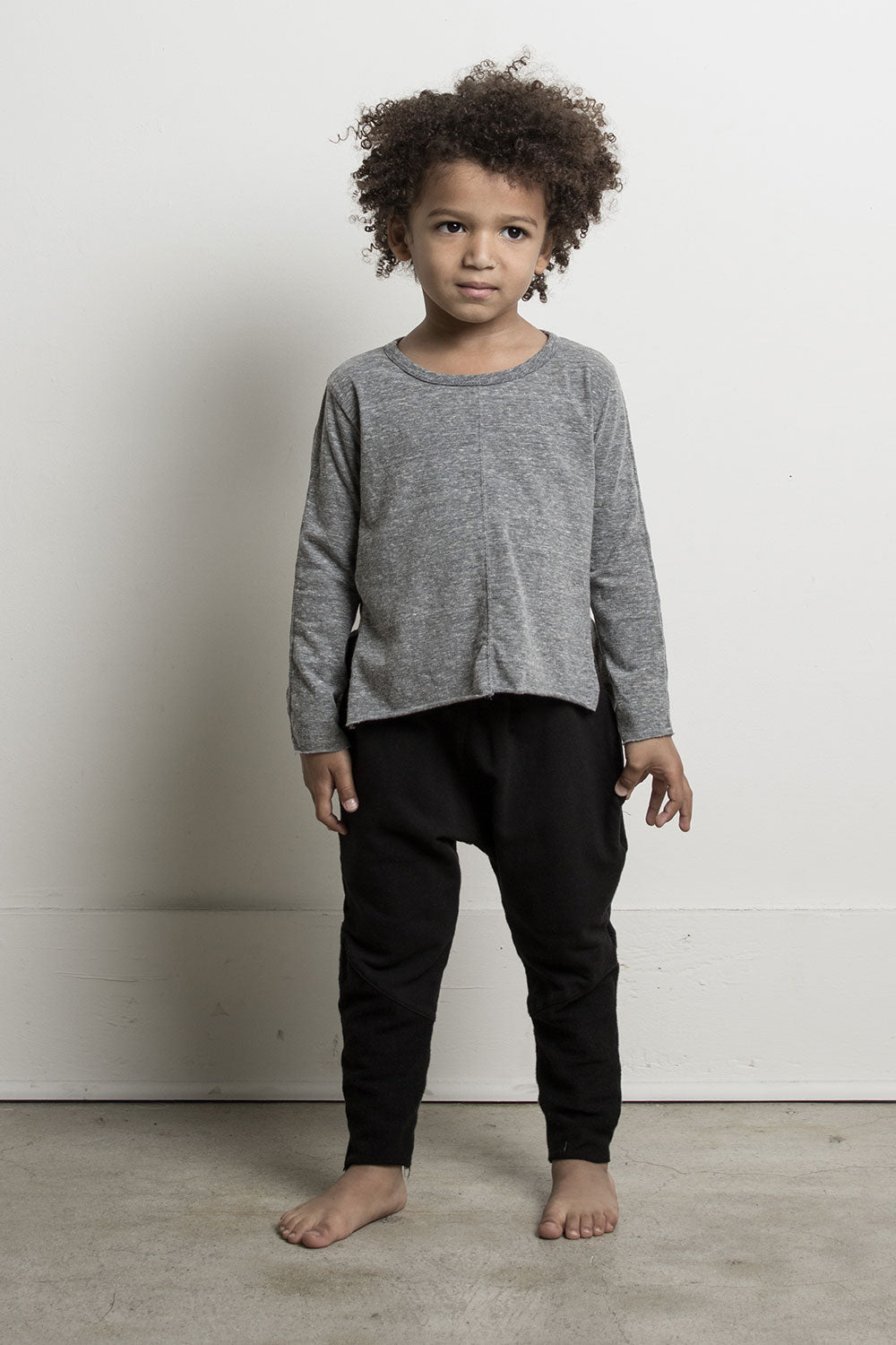 DANIEL PATRICK KIDS- L/S HEATHER GREY TRAIL TEE