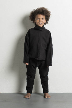 DANIEL PATRICK KIDS- BLACK TURTLENECK SWEATER