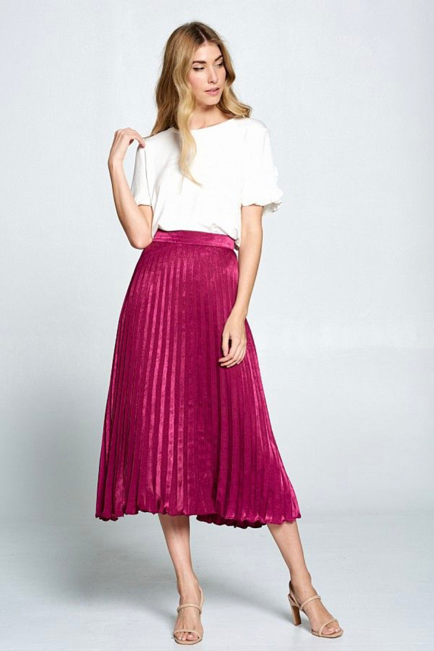 ELLISON CONTEMPORARY- SOFT KNIFE PLEATED SKIRT