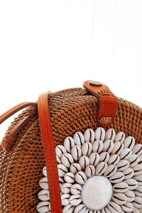 BALI- HAND SHELL BEADED ATA CROSSBODY
