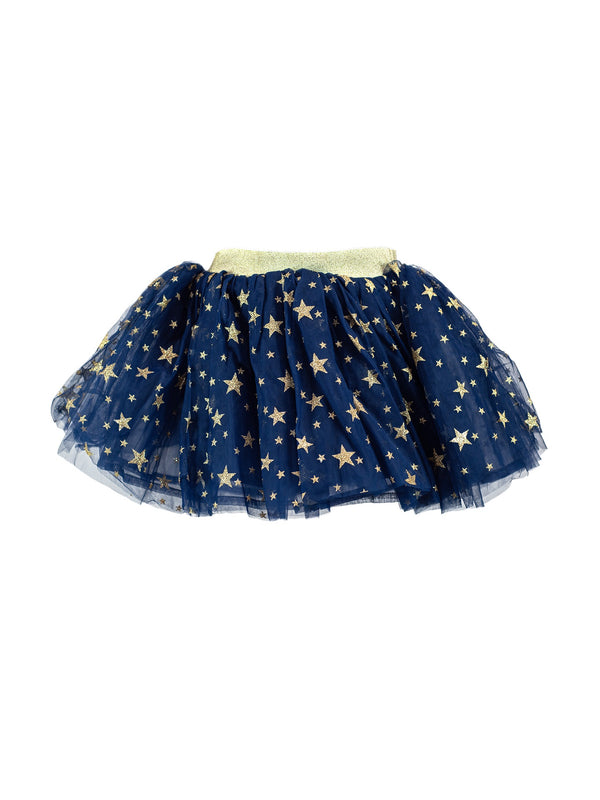 DOE A DEAR- NAVY AND GOLD STAR GLITTER TUTU
