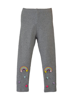 LITTLE WHO - HEATHER GREY RAINBOW TIGHTS