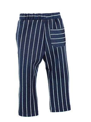 LITTLE WHO - JERSEY PINSTRIPE ELASTIC WAIST PANT